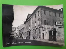 Cartolina - Asti - Corso Alfieri - Caserma - 1956 - Asti