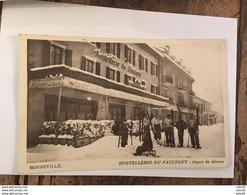 BONNEVILLE : Hostellerie Du Faucigny : Depart De Skieurs  ..................... MC-1081a - Bonneville
