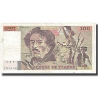 France, 100 Francs, Delacroix, 1994, 1994, TB+, Fayette:69 Ter 1b), KM:154h - 1962-1997 ''Francs''