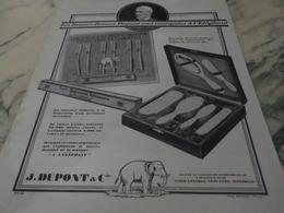 ANCIENNE PUBLICITE LES BONNE BROSSE DUPONT 1926 - Parfum & Cosmetica