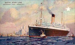 "PAQUEBOT Twin-Screw R.M.S ""MEGANTIC"" White Star Line * Bateau Ship Canadian Service - Paquebote"