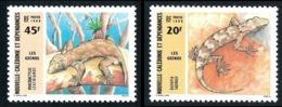 NOUV.-CALEDONIE 1986 - Yv. 516 Et 517 **   Faciale= 0,54 EUR - Geckos Bavayia Et Rhacodactylus  ..Réf.NCE25227 - Neufs