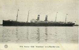 ANTWERPEN ANVERS - Hermans 718 - S.S. KROONDLAND DE RED STAR LINE - Antwerpen