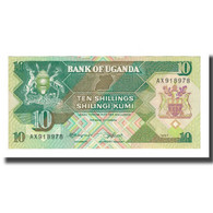 Billet, Uganda, 10 Shillings, 1987, KM:28, NEUF - Ouganda