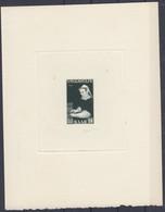 Saar 1956 Mi 378 Epreuve D'artiste, In Blockformat 127x160 Mm On Carton Paper With Signature Of The Author, Rare!! - 1947-56 Occupazione Alleata