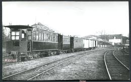 Photo Chapuis La Vie Du Rail - CFSNE - Train En Gare D'Oulchy-Brény Dans L'Aisne - 1945 - Voir 2 Scans - France