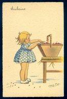 Cpa Illustrateur Jary. Mor. -- Aubaine - Petite Fille Et Les Cerises  DEC19-27 - Illustrators & Photographers