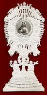 Image Pieuse Religieuse Holy Card Canivet Dentelle Découpis Ed Villemur - Prenez Et Mangez ... Eucharistie ... ((*_*)) . - Images Religieuses