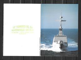 Frégate LA FAYETTE - Carte Double  (ouverte) - Congrès De La Marco Navale LORIENT 1995 - Poststempel (Briefe)