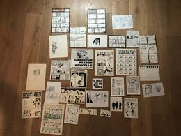 Lot De 31 Planches Originales BD G. BRUNEL - LYON CROIX ROUSSE 70's - 80's - Livres, BD, Revues