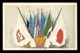 GUERRE 14/18 - DRAPEAUX DES ALLIES - CARTE DE VOEUX DE L'UNION CHRETIENNE DES JEUNES GENS JAPONAIS AUX ARMEES ALLIEES - Guerra 1914-18