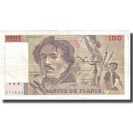 France, 100 Francs, Delacroix, 1995, 1995, TB+, Fayette:69 Ter 2b, KM:154h - 1962-1997 ''Francs''