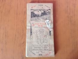 Ancienne Carte Sur Toile Michelin De Nevers -Chalon-s-Saone - Cartes Routières