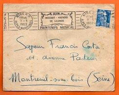 NICE   MOZART HAENDEL DE LALANDE  1952  Lettre Entière N° MN 12 - Mechanische Stempels (reclame)