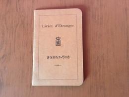 Luxembourg.Livret D'étranger 1921 - Documenti Storici