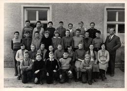 Grande Photo Originale Scolaire - Photo De Classe Mixte Année 1959/60 - Ecolier & Ecolière - Anonymous Persons