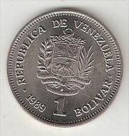 Venezuela 1 Bolivar  1989 Km 52.1  Unc - Venezuela