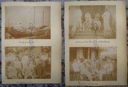 VIETNAM Cochinchine RACH GIA SA DEC Photo C.1890 Jonque Chinoise China Apéritif Photographie XIX 19e Viet Nam Indochine - Fotos