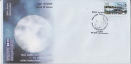 India  2012  Astronomy  Transit Of Venus  New Delhi  Special Cover  #  67718 Indien Inde India - Astronomy