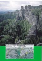 Germany 1998 Maximum Card: Narure Protection; National Park Sächsische Schweiz - Umweltschutz Und Klima