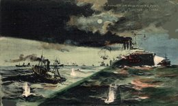 """""""The Russian Outrage On Hull Fishing Fleet"""", Posted 1904 RUSSIA RUSSIAN  HULL FLEET - Pesca"""