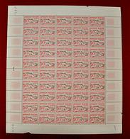 Feuille Complète De 50 Timbres FRANCE 1953 N°960 * (JEUX OLYMPIQUES D'HELSINKI 1952. NATATION. 20F - Feuilles Complètes