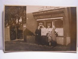 CPA 92 HAUTS DE SEINE CARTE PHOTO CAFE RESTAURANT AU BOIS DE BOULOGNE BIERE AMOS E.LAMBERT 541 - Boulogne Billancourt