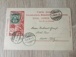 K8 Schweiz Ganzsache Stationery Entier Postal P 33 Von St. Gallen Nach Davos-Platz - Entiers Postaux