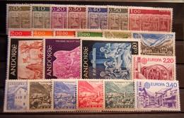 Andorre FR - Petit Lot De 23 Timbres Neufs ** - Collections