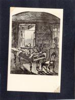 90335    Austria,  Beethovens Sterbezimmer Im Scwarzspanierhaus  Tuschzeichnung Von J. Hochle,  NV - Musea