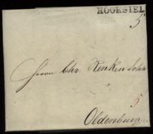 S8301 Oldenburg Briefumschlag Mit Stalling Wasserzeichen : Gebraucht Hooksiel - Oldenburg 1835 Mit Inhalt, Bedarfserha - Oldenburg