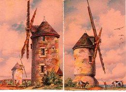 Illustrateur : Barday  Lot De 2 Cartes Barré-dayez : Les Moulins 2913 M Et N De 1944 - Barday