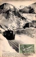 74 - Saint Gervais Les Bains - Les Sports D'Hiver Terminus (animée Train 1924) - Saint-Gervais-les-Bains