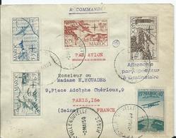 FRANCE - MAROC -lettre Recommandée Au Départ De TAZA VILLE NOUVELLE - Marocco (1891-1956)