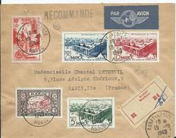 FRANCE - MAROC -lettre Recommandée Au Départ De RABAT RESIDENCE - Marokko (1891-1956)