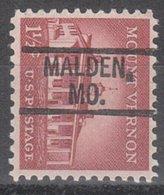 USA Precancel Vorausentwertung Preo, Locals Missouri, Malden 802 - Vereinigte Staaten