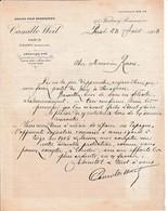 1908 - L.A.S Camille WEIL - Jury De SARRAGOSSE - Vous Serez à Même De Réparer L'INJUSTICE - PARIS - TOURY - Documents Historiques