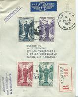 FRANCE - MAROC -lettre Recommandée Au Départ De RABAT R.P. - Marruecos (1891-1956)