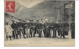 1909- Cpa Soldats Français Et Italiens à La Frontière   -  BRIANCON -  Voir 2 Scans - Briancon
