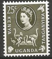 Kenya-Uganda-Tanganyikia - 1960 - MH - Common Ostrich ( Struthio Camelus ) - Straussen- Und Laufvögel