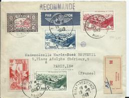 FRANCE - MAROC -lettre Recommandée Au Départ De RABAT RESIDENCE - Marocco (1891-1956)