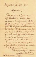 FRANCE -1923 - Lettre Manuscrite De André Hekkings, Violoncelliste - Manuscripts