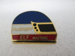 PIN'S   CASQUE  PHILIPPE STREIFF   ELF  MASTERS    Zamak - F1