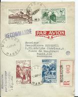FRANCE - MAROC -lettre Recommandée Au Départ De MOGADOR - Marruecos (1891-1956)