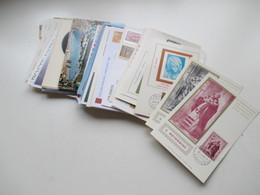 Vatican 1950 - 1982 Kleiner Belegeposten Mit Aerogramme / Ansichtskarten / Maximumkarten Usw. Insgesamt 72 Stk. - Collections