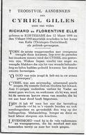 Gilles Cyriel ( Politiek Gevangene Kortemark 1898 - Kalla 1945) - Godsdienst & Esoterisme