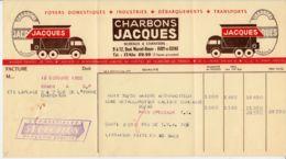 FRANCE - 1955 - Facture - Charbons Jacques - Ivry-sur-Seine - 1950 - ...