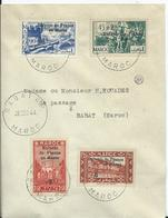FRANCE - MAROC -lettre Avec Timbres Surchargés ENFANTS DE FRANCE AU MAROC  Au Départ De RABAT R.P. - Marruecos (1891-1956)