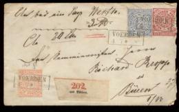 S8188 - NDP Preussen GS Briefumschlag Paket Aus Vörden: Gebraucht Vörden - Büren , Bedarfserhaltung. - Preussen