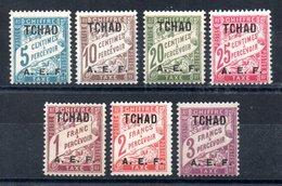 Tchad  Tschad Taxe Y&T T 1** - T 4**, T 9*, T 10**, T 11** - Tschad (1922-1936)